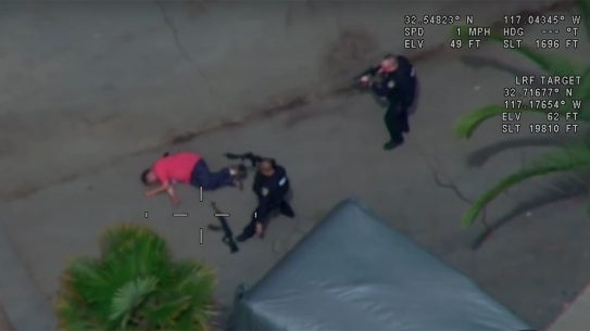 San Diego PD shot and killed a suspect armed with AK-style rifle.