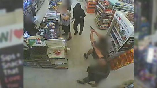 Long Beach Police shot and killed a man robbing a store with a BB gun.