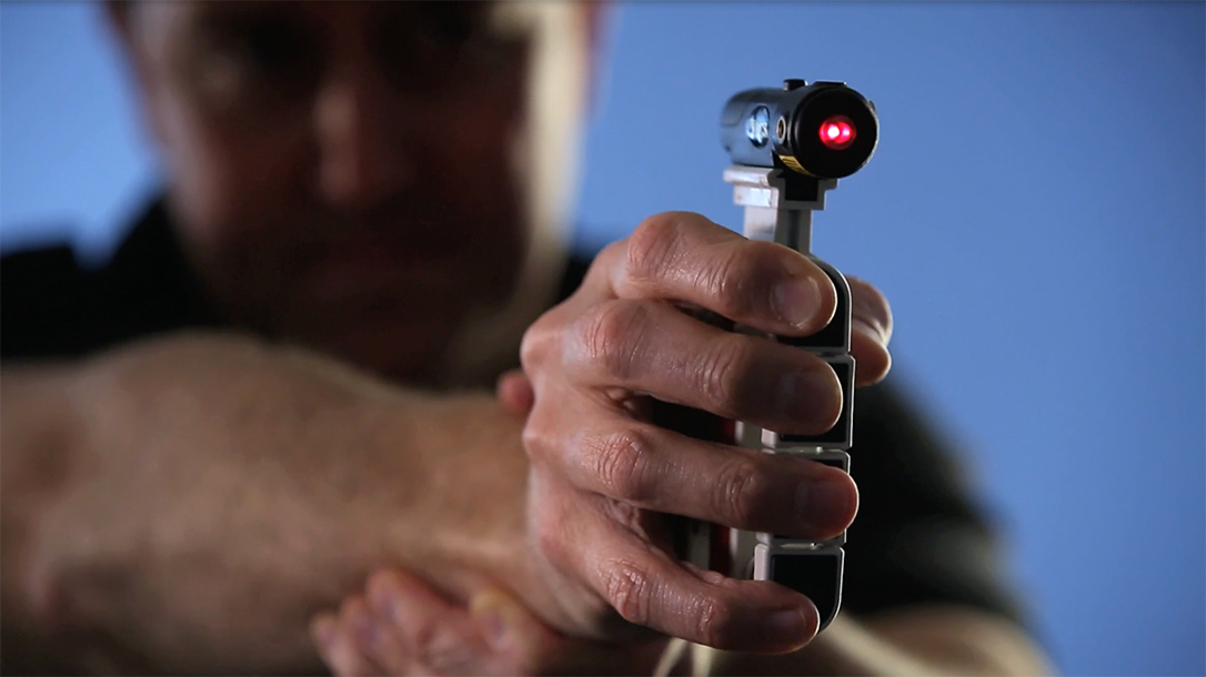 The ProHands Tactical helps build trigger finger strength.