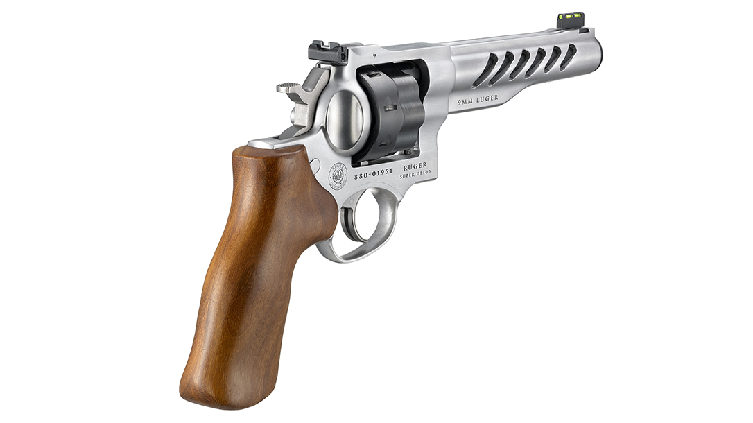 Hogue hand-polished wood grips add to the appeal.