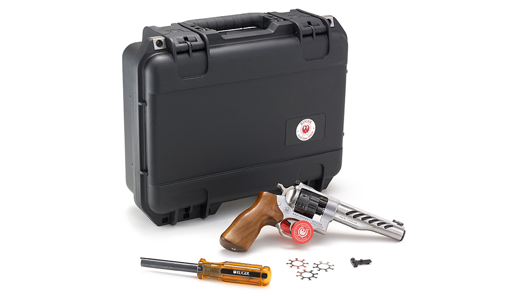 The revolver comes with several accessories included.