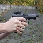 The Q4 Tac delivers an ergonomic design for easy shooting.