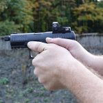 With a 4.6-inch barrel, the Q4 Tac performs with most any commercial defensive load.