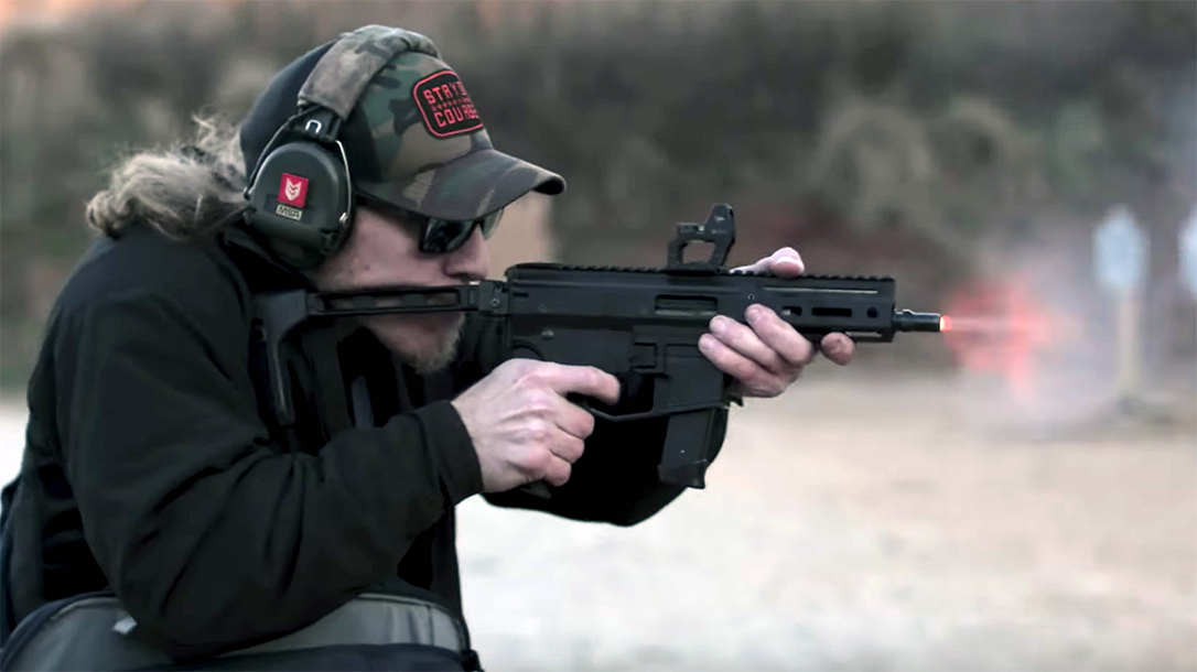 The Angstadt Arms MDP-9 deploys quickly and gets on target fast.
