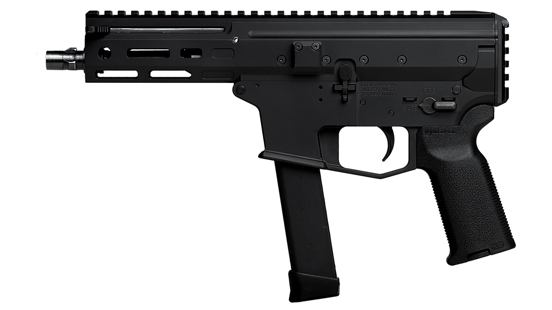 The gun works with Glock magazines, a great choice for most military and law enforcement.