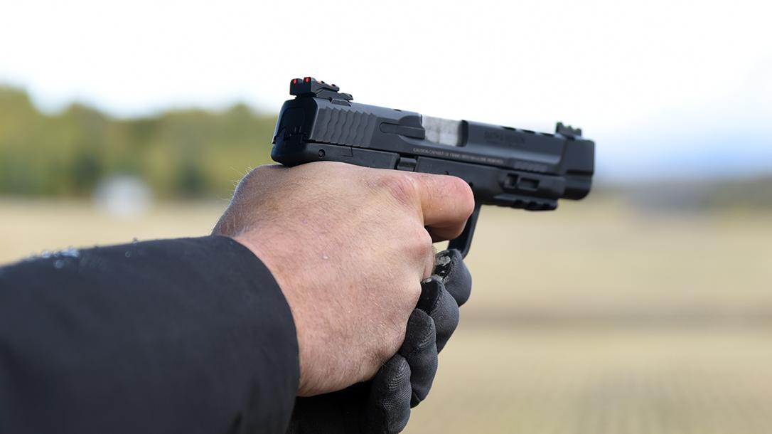 Performance Center M&P M2.0 Ported, The pistol's crisp, 4.5-pound trigger impressed during testing.
