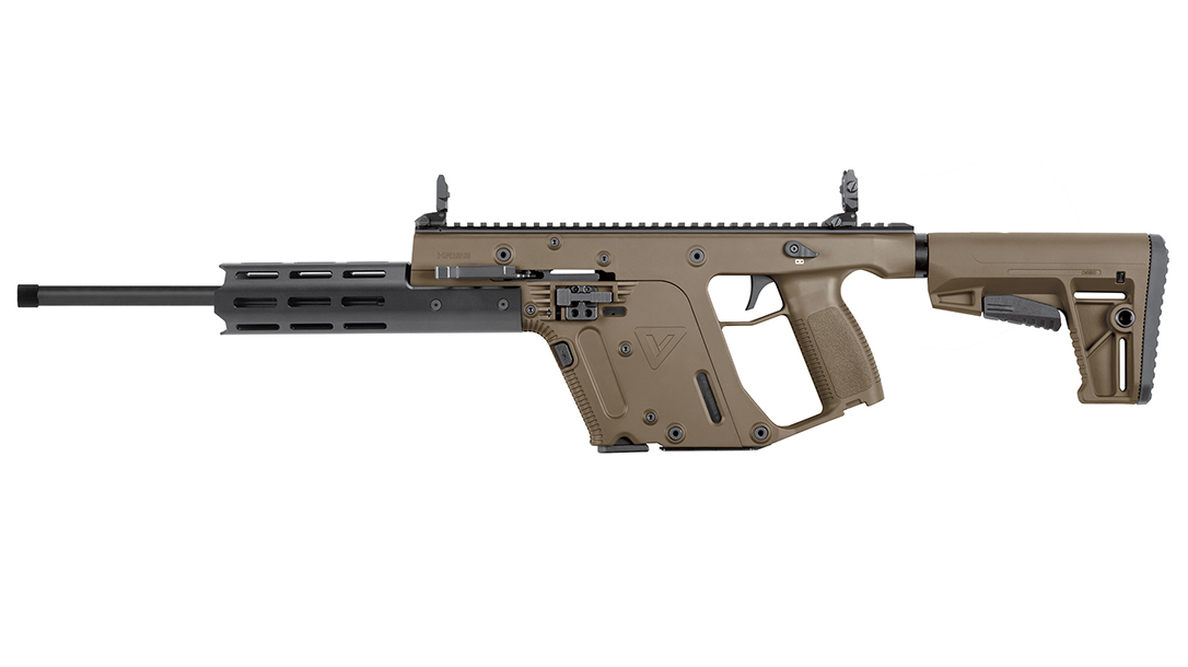Suppressor-ready and chambered rimfire, the Vector provides a great trainer.