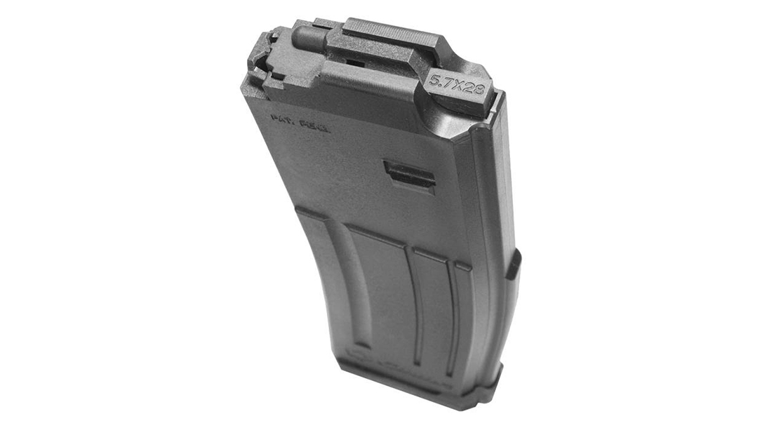 The CMMG 5.7 AR Conversion Magazine makes it possible to run the fast cartridge in your AR-15.