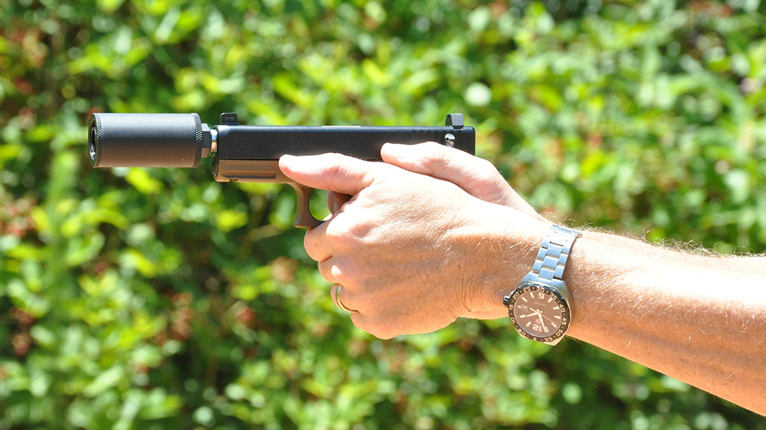 At just 3 inches long, the Hush Puppy Model 2 suppressor is compact and light.
