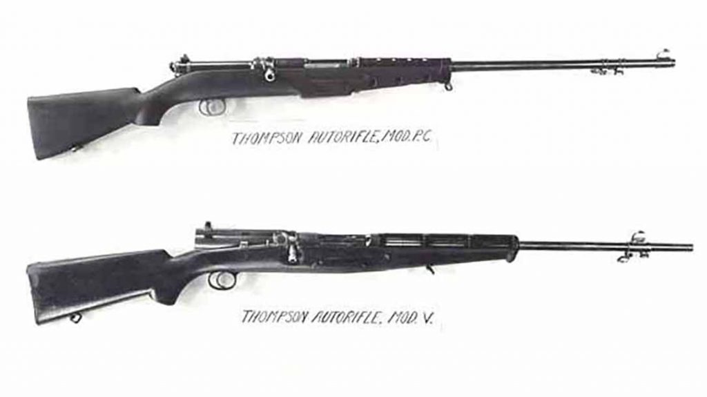While the Thompson Submachine Gun found great success, Thompson Auto Rifles did not.