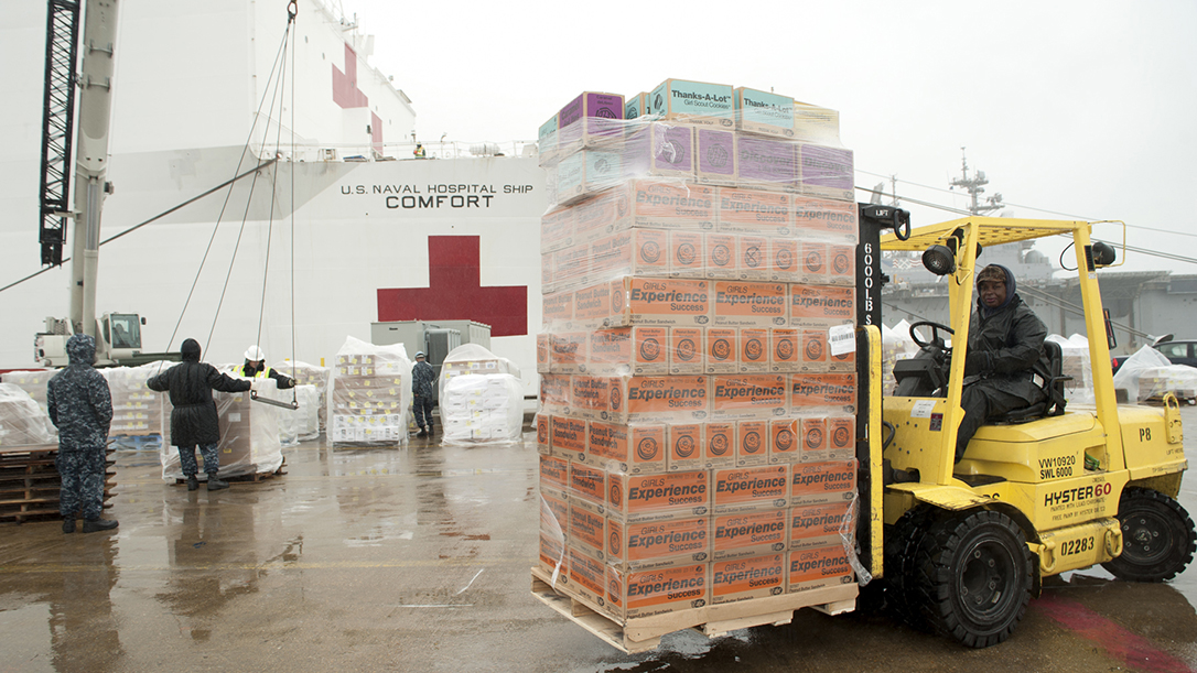 Right now, Navy hospital ships are gearing up to support U.S. cities.