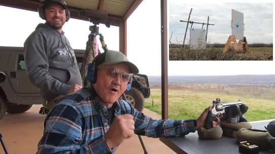 Jerry Miculek goes 1,000 yards with a revolver in four shots.