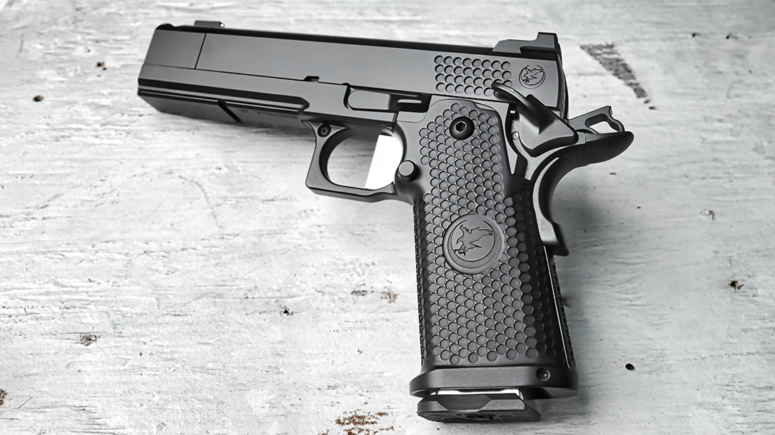 The Nighthawk TRS Comp features a double-stack frame for higher capacity.
