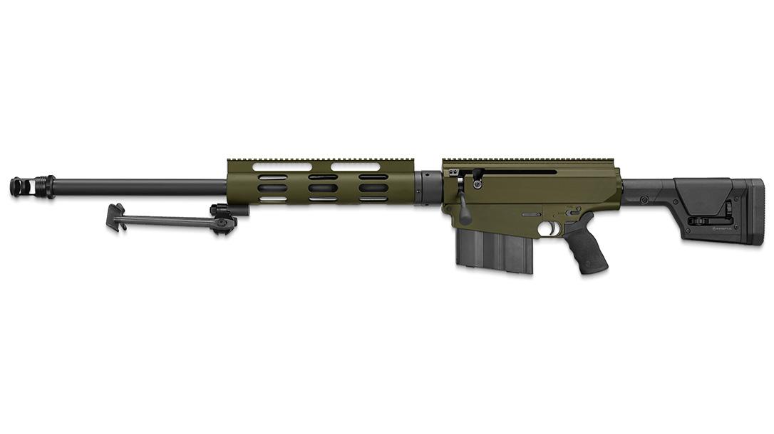 A 10-round box magazine feeds the R2Mi rifle.