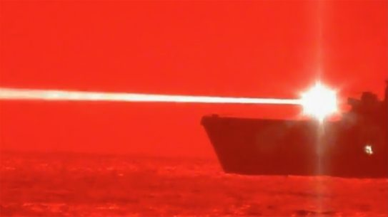 The U.S. Navy successfully tested a laser on a drone recently.