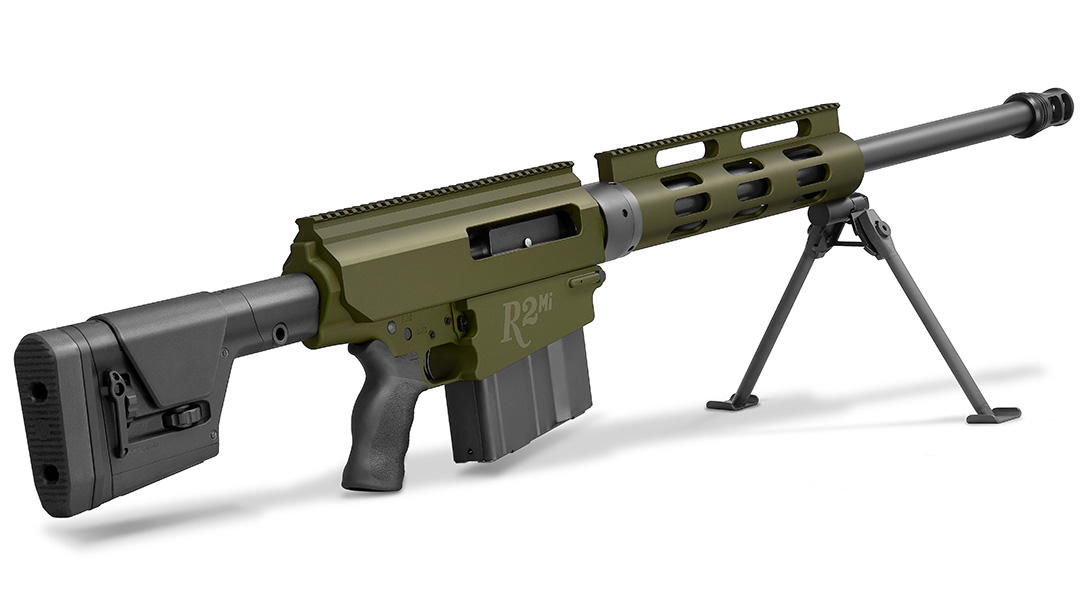 The Remington R2Mi features a left-hand bolt and right-side ejection port.
