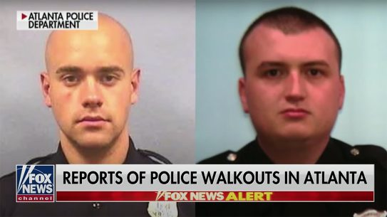 Atlanta Police Officers reportedly walk off the job following charges against officer.