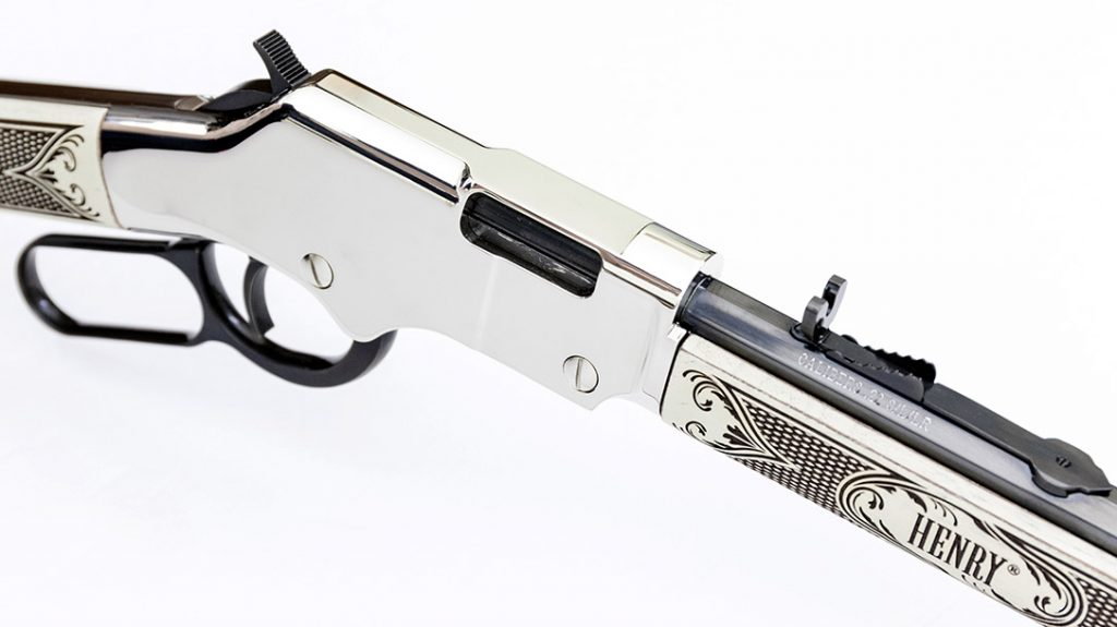 Chambered in .22 LR, the Henry American Eagle comes well appointed.
