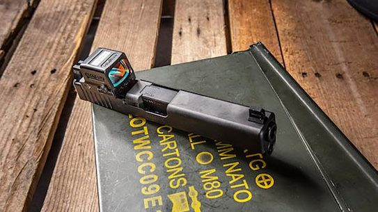 The Holosun 509T is a fully enclosed reflex sight for pistol use.
