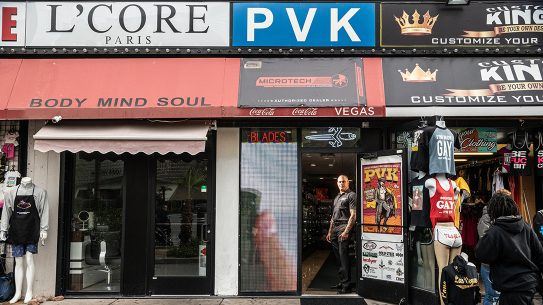Though the facade is humble, PVK Vegas boasts an incredible inventory of high end blades.