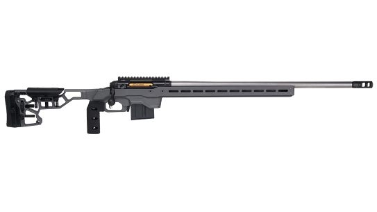 The Savage 110 in 300 PRC delivers long-range accuracy.