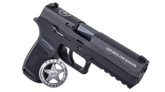 Proceeds from the SIG Texas Ranger Edition P320 benefit a Ranger charity.
