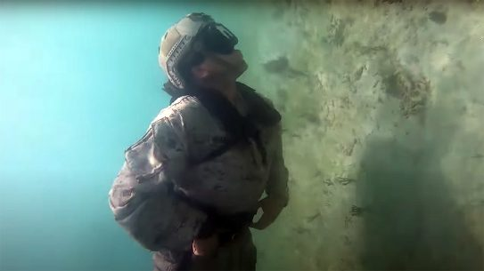 Marine Diver Propulsion device make the Marines more stealthy in water.