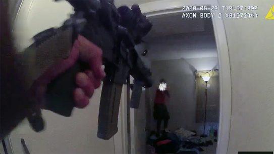 Nearly 50 shots were fired in a wild gun battle between an attempted murder suspect and Daytona Beach officers.