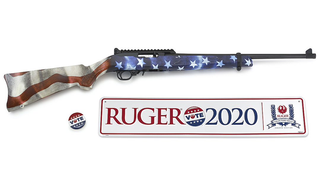 The new Ruger Vote 2020 10/22 Carbine encourages 2A supporters to get out and vote.