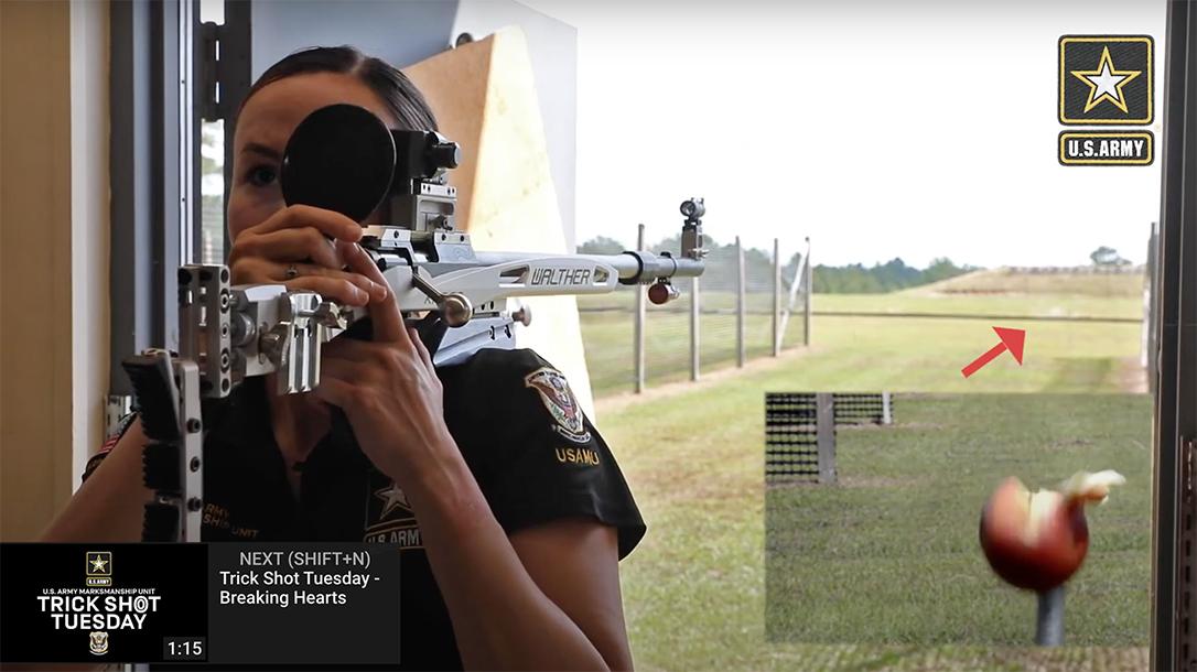 AMU trick shot, Army Marksmanship Unit rifle shooter