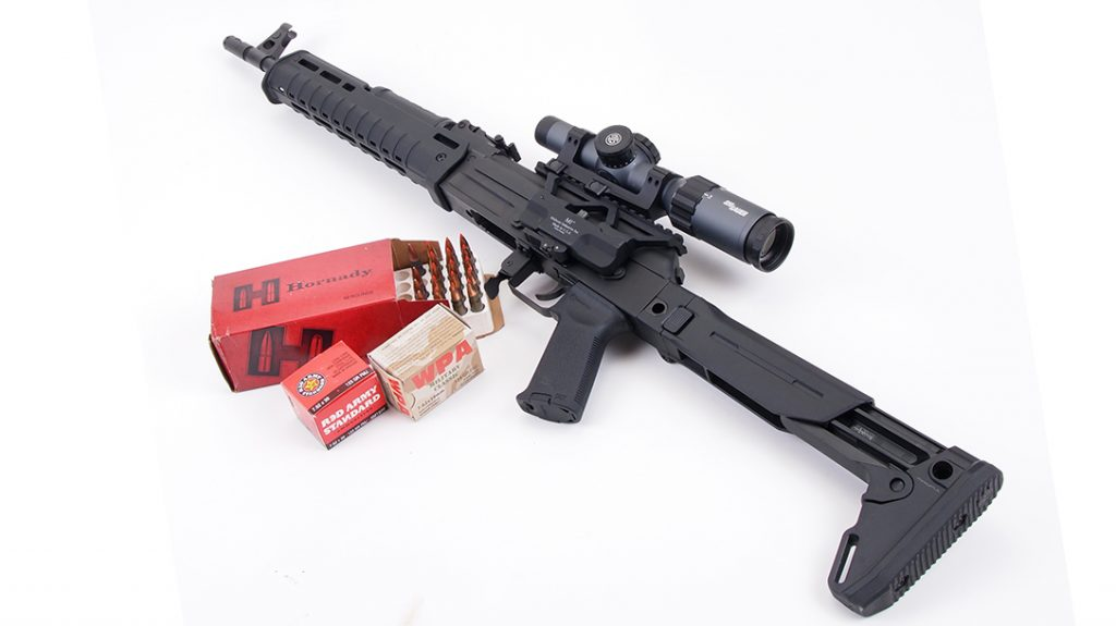 The host of Magpul components helped turn the C39v2 into a shooter.