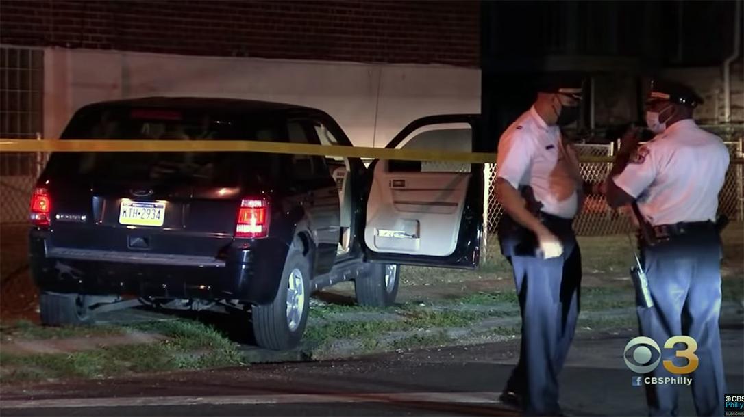 Two gunmen opened fire on undercover officers in Philadelphia.