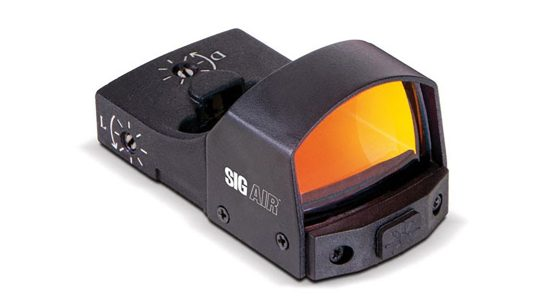 The SIG Air Reflex Sight provides a 3 MOA dot for ProForce M17, M18 airsoft guns.
