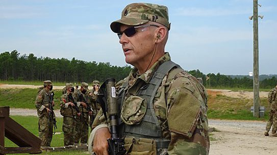 Fifty-nine-year-old combat veteran Monte Gould recently completed Army basic training.