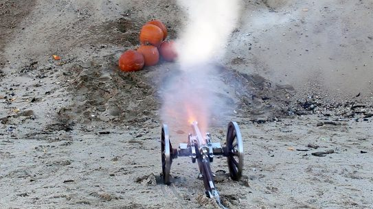 We test out the Traditions Napoleon III Mini Cannon blasting pumpkins.
