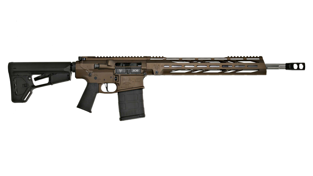 Featuring a cerakote finish and a black nitride bolt carrier group, the Red Arrow RAW10 sports high-end features.