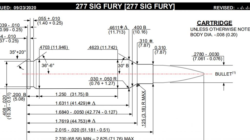 SAAMI officially accepted three new cartridges recently, including the 277 SIG Fury.