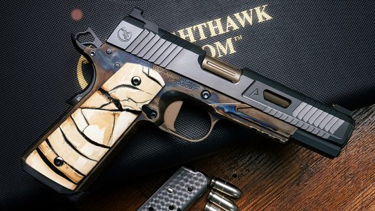 The Nighthawk VIP Agent 2 comes with incredible mammoth ivory grips.