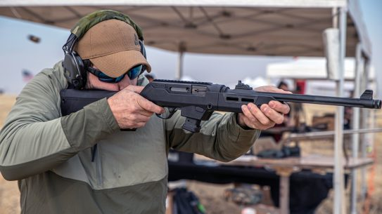 In takedown configuration and with storage compartments, the Magpul PC Backpacker Stock adds to the Ruger PC Carbine.