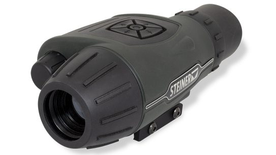 The Steiner Cinder Thermal Sight mounts to rifles or works handheld to identify targets.