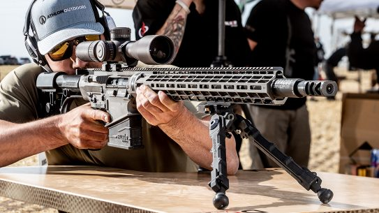 Chambered in .300 WinMag, the Falcor Petra can reach targets at extended ranges.