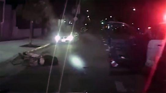 LAPD bicycle pursuit, armed suspect