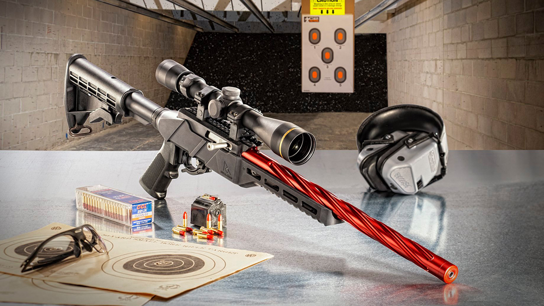 The Rival Arms R-22 is CNC-machined from aluminum billet.