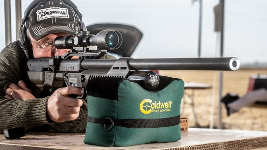 The Umarex Hammer launches 550-grain bullets at 790 fps.