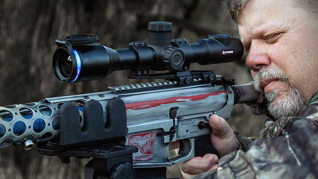 The Pulsar Thermion XM30 detects heat signatures out to 1,400 yards.