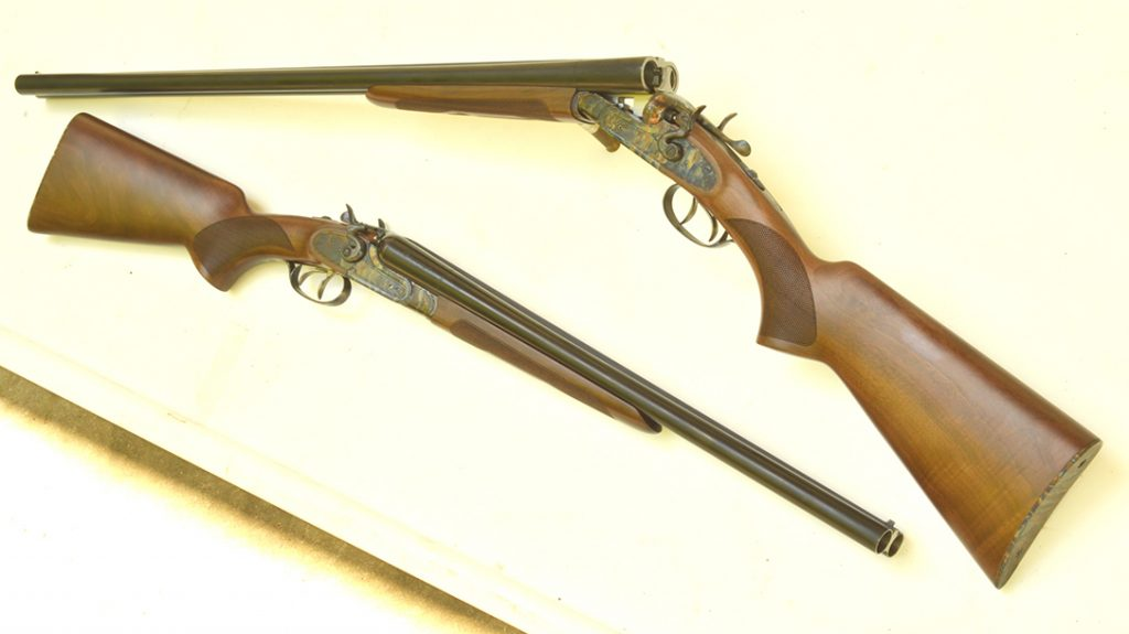 The Hammer Classic with the 30-inch barrel is threaded for choke tubes. The coachgun is not.