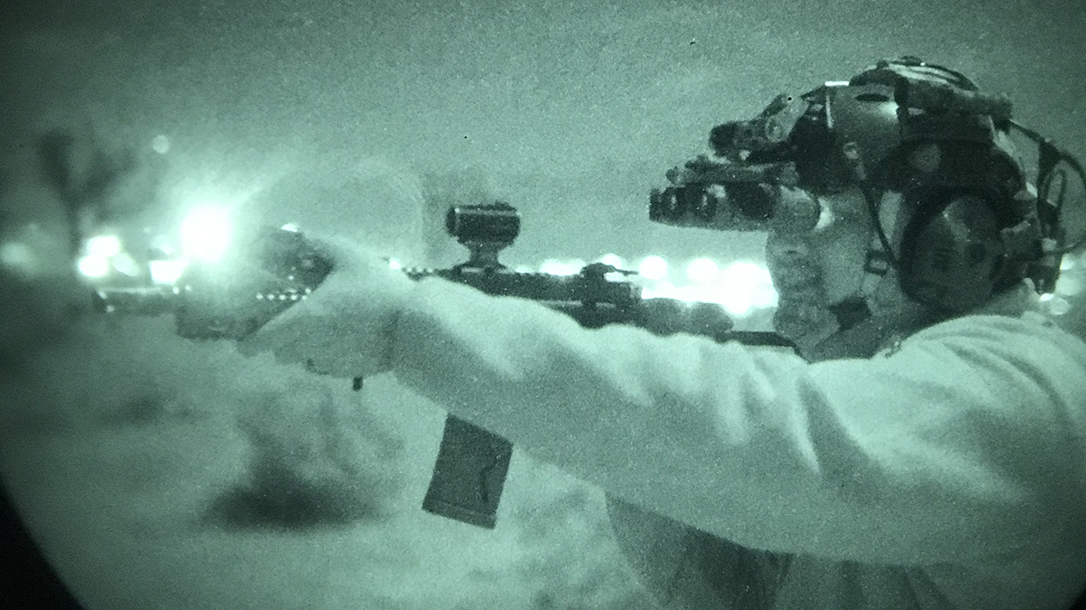 Wearing night vision NODs greatly affects depth perception and requires training.
