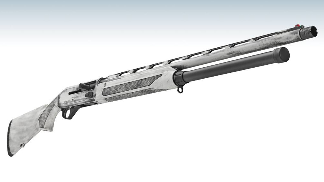 The Stoeger M3500 Snow Goose features a white Cerakote finish and the Inertia-Driven operating system.