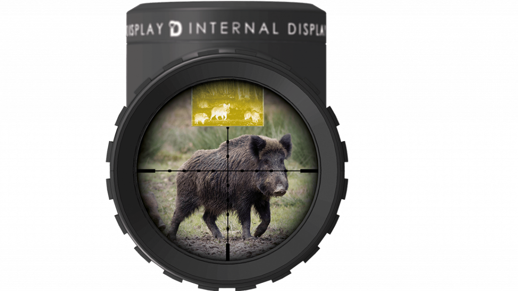 The scope features an illuminated reticle with a traditional post configuration.