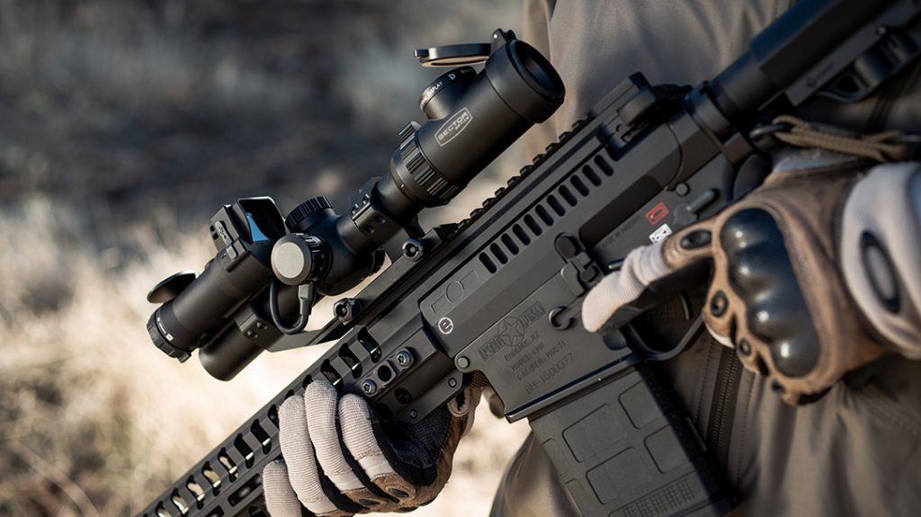 The Sector Optics G1T2 does a remarkable job of keeping the entire package light enough to carry tactically.